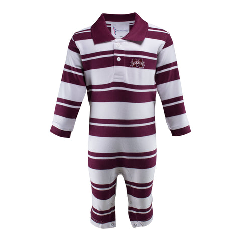 Two Feet Ahead - Mississippi State - Mississippi State Rugby Long Leg Romper