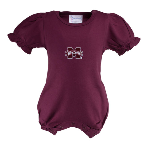 Two Feet Ahead - Mississippi State - Mississippi State Girl's Romper