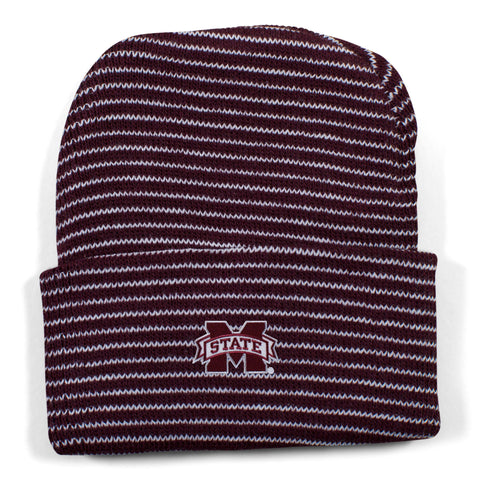 Two Feet Ahead - Mississippi State - Mississippi State Stripe Knit Cap