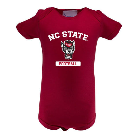 Two Feet Ahead - NC State - NC State Infant Lap Shoulder Creeper Print