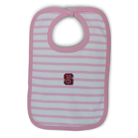 Two Feet Ahead - NC State - NC State Infant Stripe Knit Bib