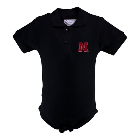 Two Feet Ahead - Nebraska - Nebraska Golf Shirt Romper