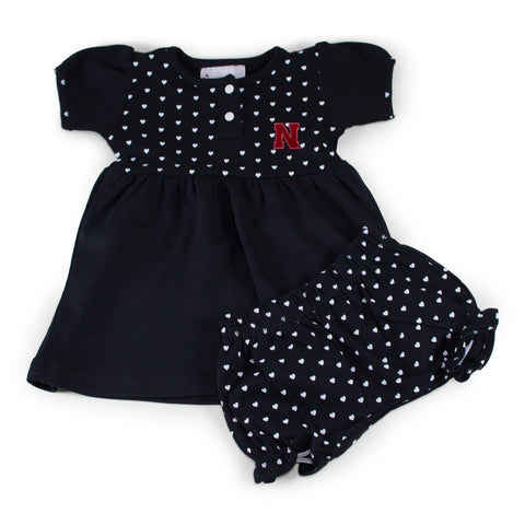 Two Feet Ahead - Nebraska - Nebraska Girl's Heart Dress with Bloomers