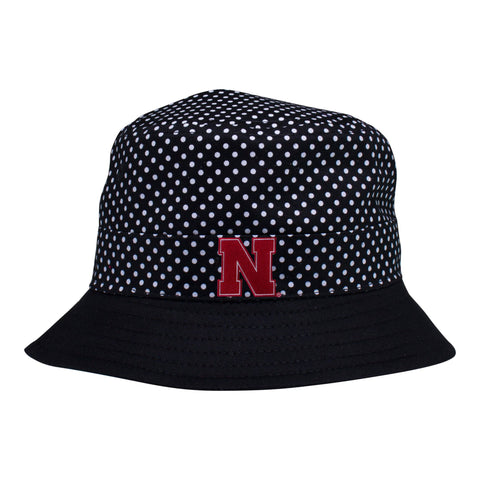 Two Feet Ahead - Nebraska - Nebraska Pin Dot Bucket Hat