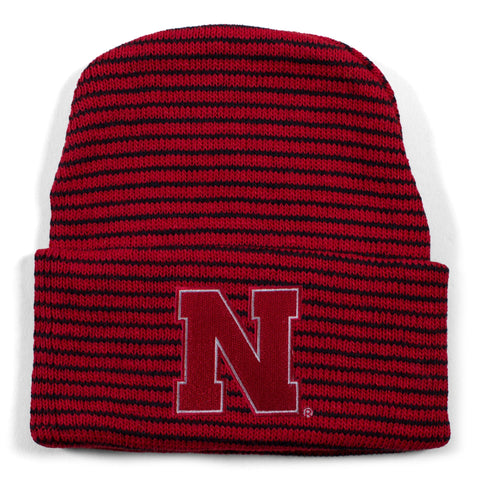 Two Feet Ahead - Nebraska - Nebraska Stripe Knit Cap
