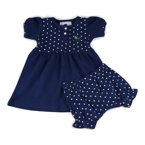 Two Feet Ahead - Notre Dame - Notre Dame Girl's Heart Dress with Bloomers