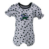 Two Feet Ahead - Notre Dame - Notre Dame Polka Dot Girl's Romper