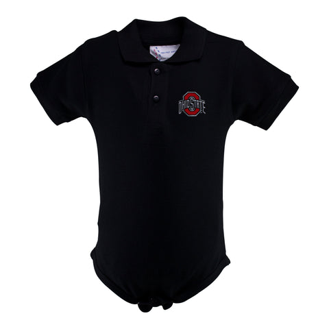 Two Feet Ahead - Ohio State - Ohio State Golf Shirt Romper