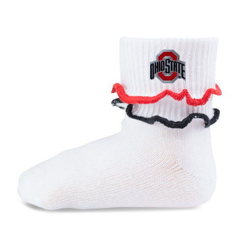 Two Feet Ahead - Ohio State - Ohio State Double Ripple Edge Anklet