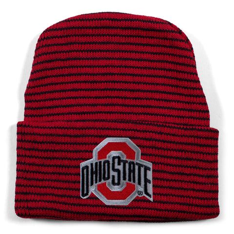 Ohio State Stripe Knit Cap