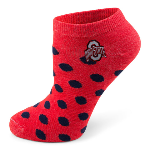 Two Feet Ahead - Ohio State - Ohio State Women's Polka Dot Footie