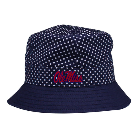 Two Feet Ahead - Ole Miss - Ole Miss Pin Dot Bucket Hat 3d9746b80da