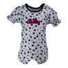 Ole Miss Polka Dot Girl's Romper