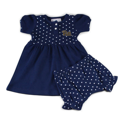 Two Feet Ahead - Pitt - Pitt Girl's Heart Dress with Bloomers