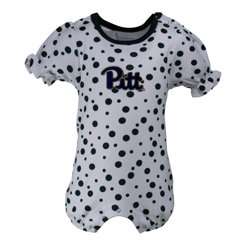 Two Feet Ahead - Pitt - Pitt Polka Dot Girl's Romper