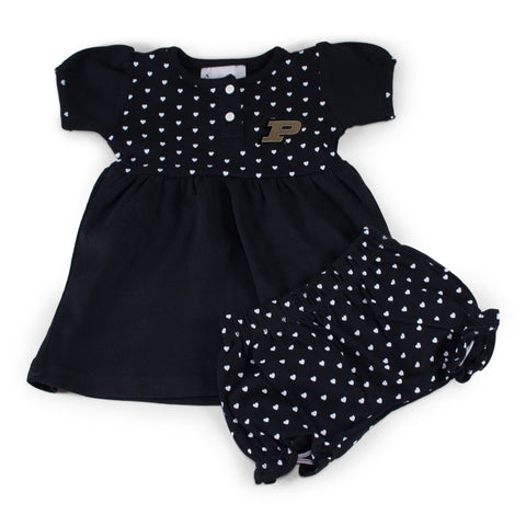 Purdue Girl's Heart Dress with Bloomers