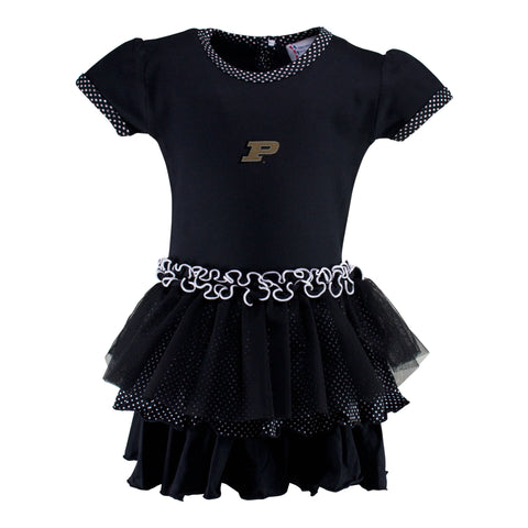 Two Feet Ahead - Purdue - Purdue Pin Dot Tutu Dress