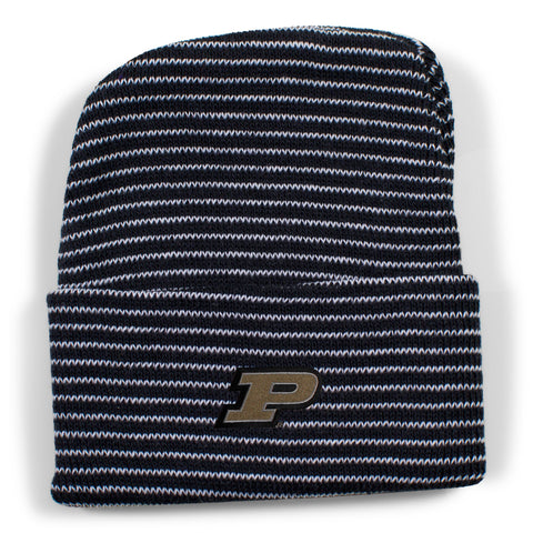 Two Feet Ahead - Purdue - Purdue Stripe Knit Cap