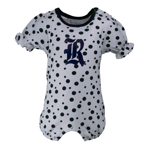 Two Feet Ahead - Rice - Rice Polka Dot Girl's Romper