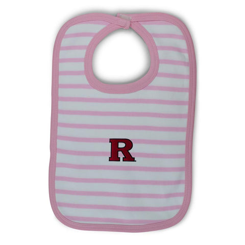 Two Feet Ahead - Rutgers - Rutgers Infant Stripe Knit Bib