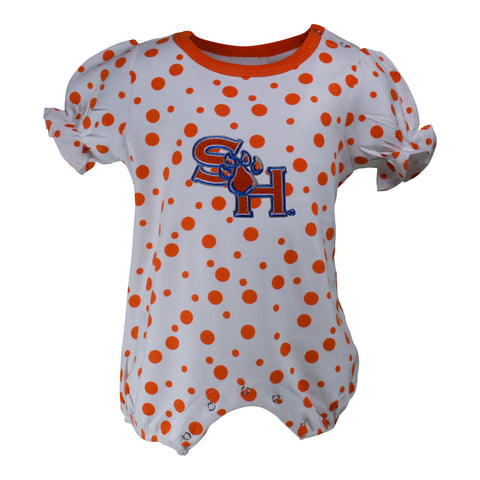 Two Feet Ahead - Sam Houston - Sam Houston Polka Dot Girl's Romper
