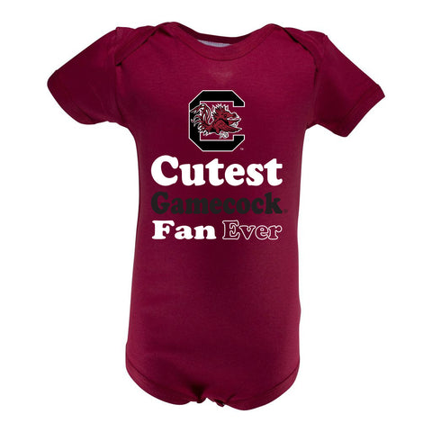 South Carolina Infant Lap Shoulder Creeper Print