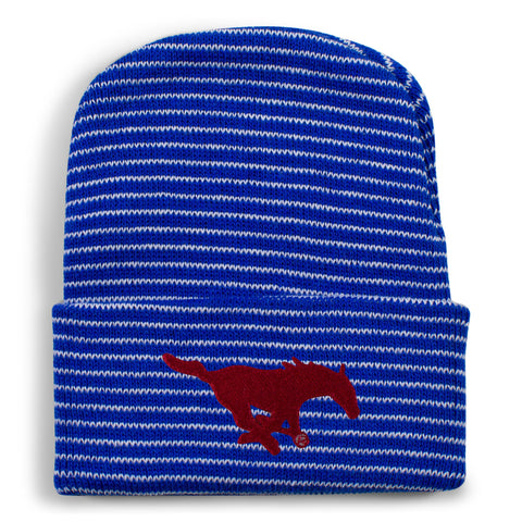 Two Feet Ahead - Southern Methodist - Southern Methodist Stripe Knit Cap