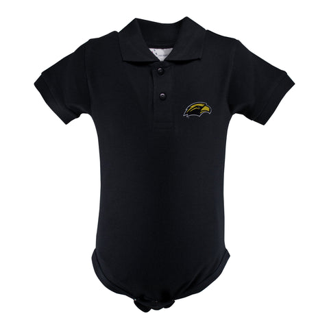 Two Feet Ahead - Southern Miss - Southern Miss Golf Shirt Romper
