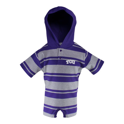 Two Feet Ahead - Texas Christian University - Texas Christian University Hooded T-Romper