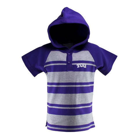 Two Feet Ahead - Texas Christian University - Texas Christian University Short Sleeve Hooded Shirt