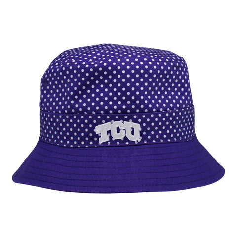 Two Feet Ahead - Texas Christian University - Texas Christian University Pin Dot Bucket Hat