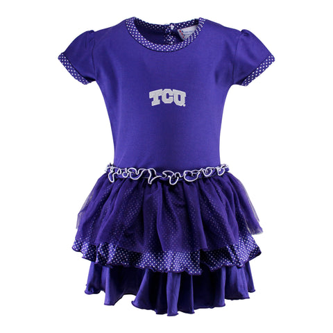 Two Feet Ahead - Texas Christian University - Texas Christian University Pin Dot Tutu Dress