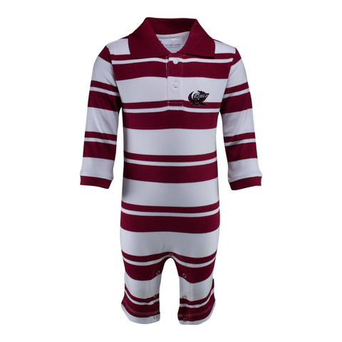 Two Feet Ahead - Temple - Temple Rugby Long Leg Romper