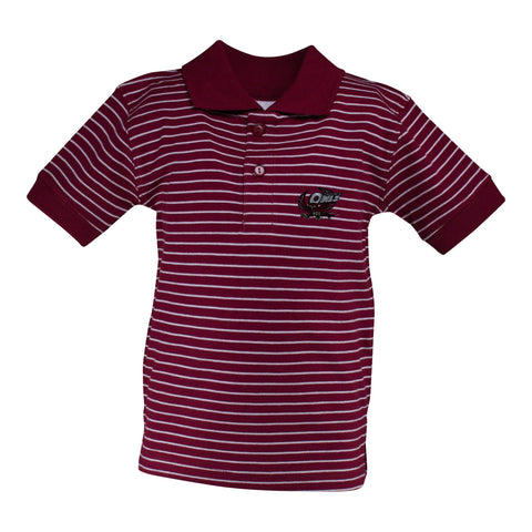 Two Feet Ahead - Temple - Temple Jersey Golf Shirt
