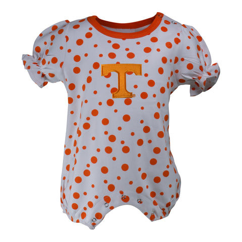 Two Feet Ahead - Tennessee - Tennessee Polka Dot Girl's Romper