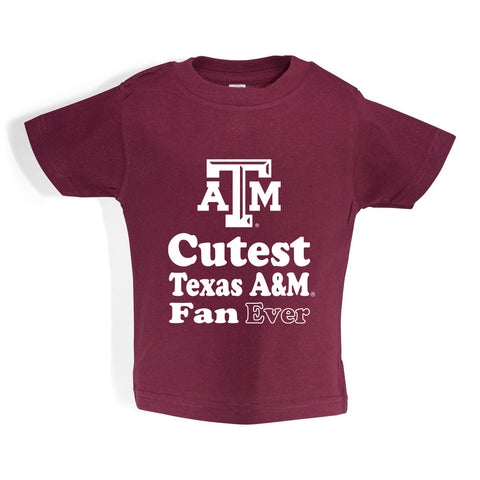 Texas A&M Toddler Short Sleeve T Shirt Print