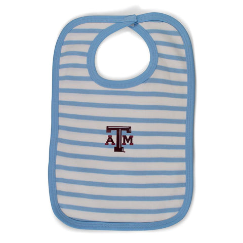 Two Feet Ahead - Texas A&M - Texas A&M Infant Stripe Knit Bib