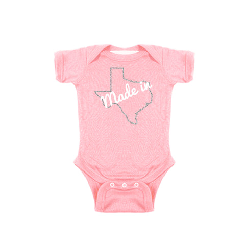 Two Feet Ahead - Infant Clothing - Made In Texas Girl's Creeper