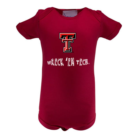 Two Feet Ahead - Texas Tech - Texas Tech Infant Lap Shoulder Creeper Print