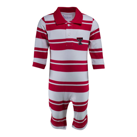 Two Feet Ahead - Texas Tech - Texas Tech Rugby Long Leg Romper