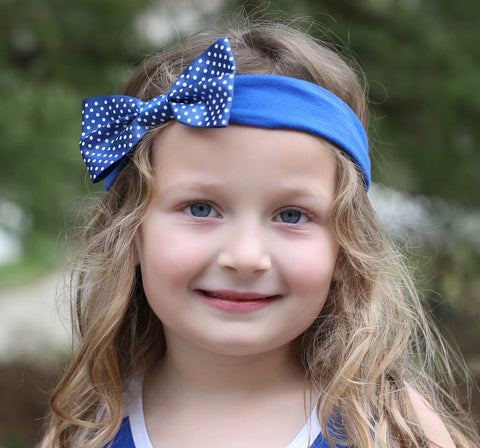 Two Feet Ahead - Sam Houston - Sam Houston Girl's Pin Dot Headband