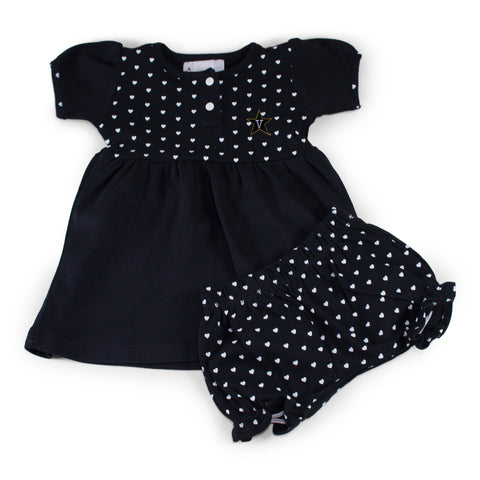 Vanderbilt Girl's Heart Dress with Bloomers