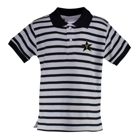 Two Feet Ahead - Vanderbilt - Vanderbilt Stripe Golf Shirt