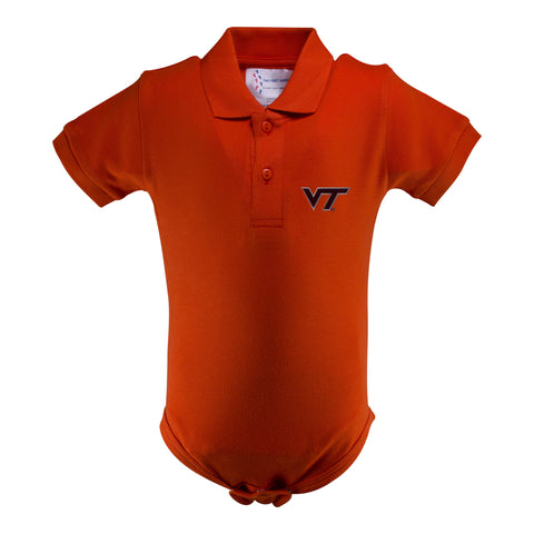 Two Feet Ahead - Virginia Tech - Virginia Tech Golf Shirt Romper