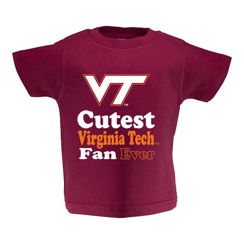 Virginia Tech Toddler Short Sleeve T Shirt Print
