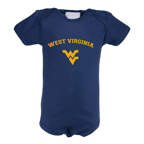 West Virginia Infant Lap Shoulder Creeper Print