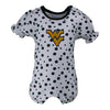 Two Feet Ahead - West Virginia - West Virginia Polka Dot Girl's Romper