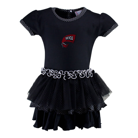 Two Feet Ahead - Western Kentucky - Western Kentucky Pin Dot Tutu Dress