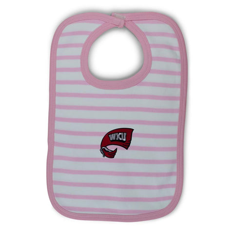 Two Feet Ahead - Western Kentucky - Western Kentucky Infant Stripe Knit Bib