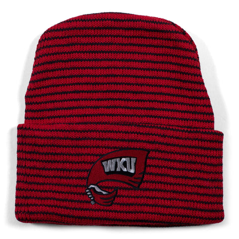 Two Feet Ahead - Western Kentucky - Western Kentucky Stripe Knit Cap